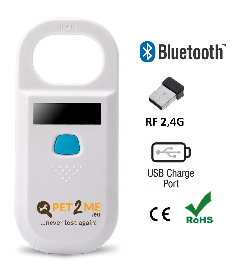 Čtečka mikročipů Pet2Me ANIMAL TAG READER CM188